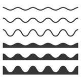 Mod?le sans couture de vague et de zigzag r?gl? sur le fond blanc Vecteur illustration stock