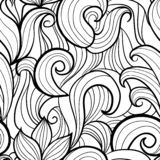 Modèle sans couture de vagues stylisées illustration de vecteur