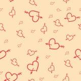 Modèle sans couture de Valentine des coeurs Illustration Stock