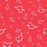 Modèle sans couture de Valentine des coeurs Illustration Libre de Droits