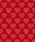 Modèle sans couture de valentines rouges Photos libres de droits