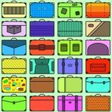 Modèle sans couture de valises photos libres de droits