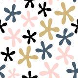 Modèle sans couture de vecteur abstrait avec des fleurs Motifs scandinaves Photo libre de droits