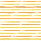 Modèle sans couture de vecteur abstrait avec jaune et orange barrée illustration de vecteur