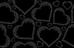 Modèle sans couture de vecteur abstrait de valentine avec les coeurs figurés Photos libres de droits