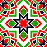 Modèle sans couture de vecteur arabe Les EAU ont répété le fond Couleurs traditionnelles de drapeau d'émirats Rouge, vert, blanc, illustration stock
