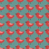 Modèle sans couture de vecteur avec de beaux oiseaux animaux Photos libres de droits