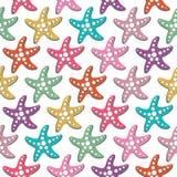 Modèle sans couture de vecteur avec des étoiles de mer Photos libres de droits