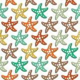 Modèle sans couture de vecteur avec des étoiles de mer Photographie stock libre de droits