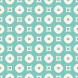 Modèle sans couture de vecteur avec des cercles et des places Aqua vert et beige Photographie stock