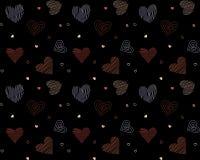 Modèle sans couture de vecteur avec des coeurs, fond d'illustration de vecteur images libres de droits