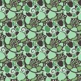 Modèle sans couture de vecteur avec des coquilles de vert bleu Texture sans couture de vecteur d'Amonite Images libres de droits