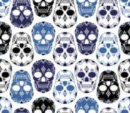 Modèle sans couture de vecteur avec des crânes Image stock