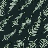 Modèle sans couture de vecteur avec des feuilles de fougère Image libre de droits