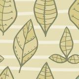 Modèle sans couture de vecteur avec des feuilles de griffonnage Photographie stock libre de droits