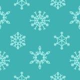 Modèle sans couture de vecteur avec des flocons de neige Fond de l'hiver Image stock