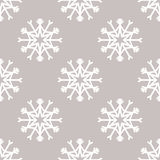 Modèle sans couture de vecteur avec des flocons de neige Fond de l'hiver Image libre de droits