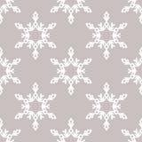 Modèle sans couture de vecteur avec des flocons de neige Fond de l'hiver Photographie stock