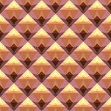 Modèle sans couture de vecteur avec des formes géométriques abstraites lumineuses Image stock