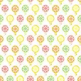 Modèle sans couture de vecteur avec des fruits Fond symétrique avec des chaux, des citrons, des oranges et des pamplemousses sur  Photographie stock libre de droits