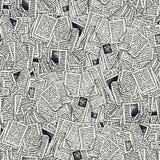 Modèle sans couture de vecteur avec des pages de livre image stock