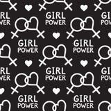 Modèle sans couture de vecteur avec des symboles lesbiens et féministes Image libre de droits