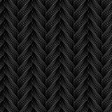 Modèle sans couture de vecteur avec des tresses La texture du fil avec la ligne pointillée tresse le plan rapproché Fond ornement Photographie stock libre de droits
