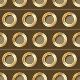 Modèle sans couture de vecteur avec des trous en métal Image stock