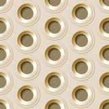 Modèle sans couture de vecteur avec des trous en métal Images libres de droits