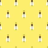 Modèle sans couture de vecteur avec l'abeille de couleur Photos libres de droits