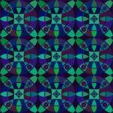 Modèle sans couture de vecteur avec l'ornement géométrique Colorez l'illustration décorative de mosaïque pour la copie, Web Photographie stock libre de droits