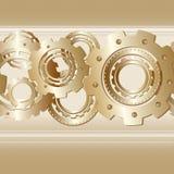Modèle sans couture de vecteur avec la bande horizontale de Photo stock