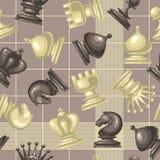 Modèle sans couture de vecteur avec la pièce d'échecs Image stock