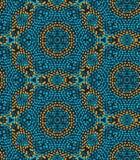 Modèle sans couture de vecteur avec la texture irrégulière de points dans la disposition géométrique Texture colorée ethnique de  illustration stock