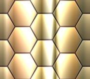 Modèle sans couture de vecteur avec le hexahedron métallique Image stock