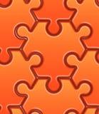 Modèle sans couture de vecteur avec le hexahedron orange Images stock