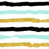 Modèle sans couture de vecteur avec le scintillement d'or Image libre de droits