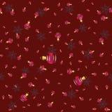 Modèle sans couture de vecteur avec les boules lumineuses de Noël Image stock
