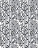 Modèle sans couture de vecteur avec les branches en bambou illustration libre de droits