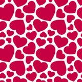 Modèle sans couture de vecteur avec les coeurs rouges Fond de jour de valentines Photo stock