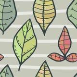 Modèle sans couture de vecteur avec les feuilles colorées Photographie stock libre de droits