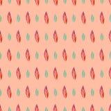 Modèle sans couture de vecteur avec les feuilles colorées de griffonnage Image libre de droits