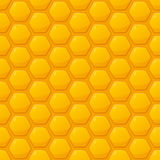 Modèle sans couture de vecteur avec les nids d'abeilles jaunes Honey Background illustration stock