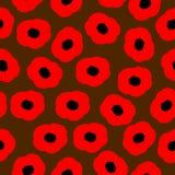 Modèle sans couture de vecteur avec les pavots rouges Images stock
