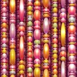 Modèle sans couture de vecteur avec les perles colorées Photo libre de droits