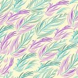 Modèle sans couture de vecteur avec les plumes colorées Photo libre de droits