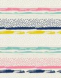 Modèle sans couture de vecteur avec les points colorés illustration stock