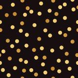 Modèle sans couture de vecteur avec les points d'or de bokeh Photographie stock libre de droits