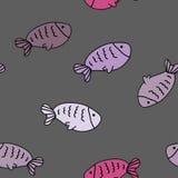 Modèle sans couture de vecteur avec les poissons mignons Photos libres de droits