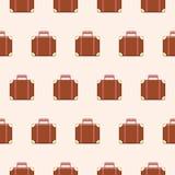Modèle sans couture de vecteur avec les valises mignonnes bouleversées Image stock